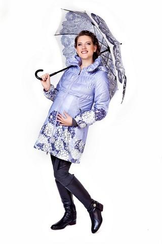 Плащ для беременных 10153 лиловый