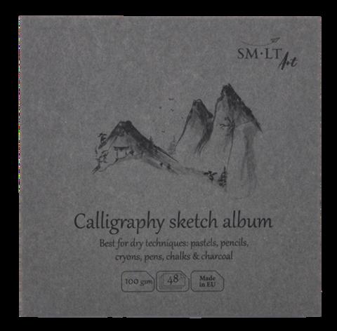 Альбом SM-LT Layflat Calligraphy 100г/м2 14х14см 48л белая бумага