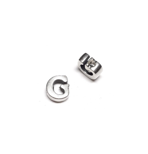 Alphabet letter G, sterling silver