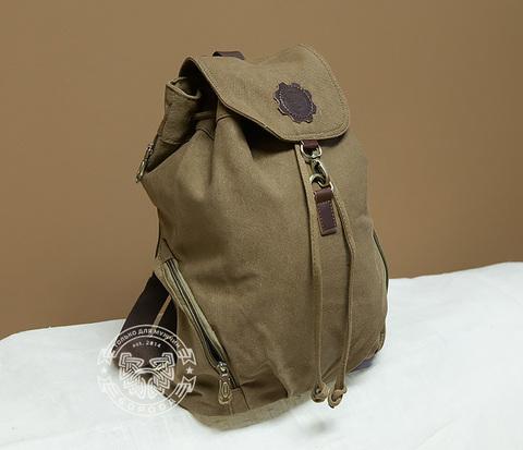BAG370-2 Легкий мужской рюкзак из ткани коричневого цвета