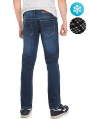 LN850 джинсы мужские утепленные, синие
