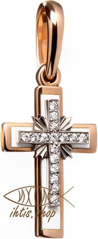 Крест. Золото. Эмаль. Бриллианты