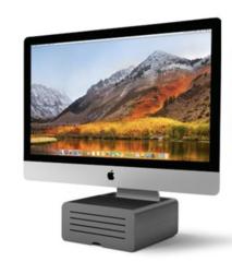 Подставка Twelve South HiRise Pro для iMac и мониторов, сталь, темно-серый