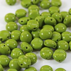 Бусина Candy Кабошон с 2 отверстиями, 8 мм, оливковая
