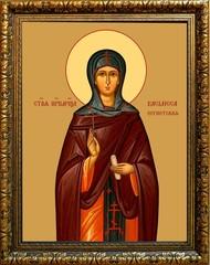 Василисса Египетская игумения преподобномученица. Икона на холсте.