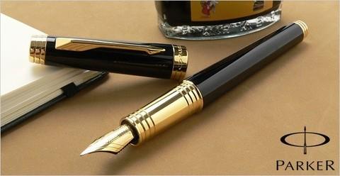 Перьевая ручка Parker Premier Lacque F560 Black GT123