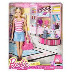 Кукла Барби с питомцами, игровой набор