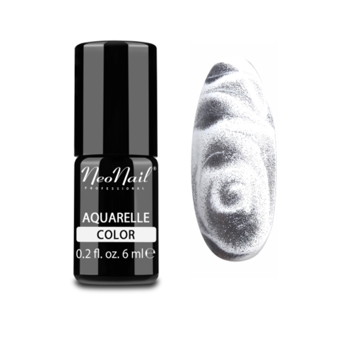 NeoNail Гель-лак акварельный UV 6ml Silver Aquarelle №5772-1