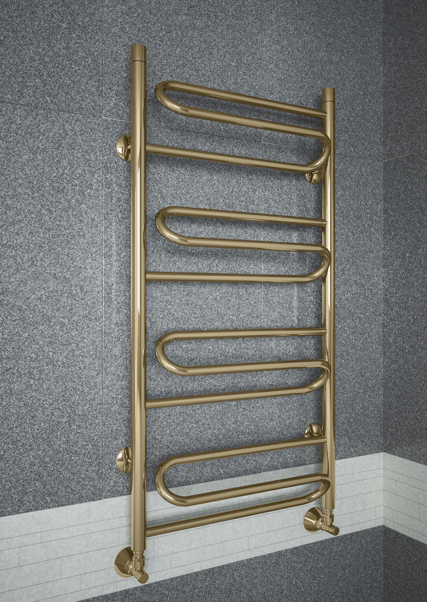 Upiter E - бронзовый полотенцесушитель с увеличенным пространством для сушки.