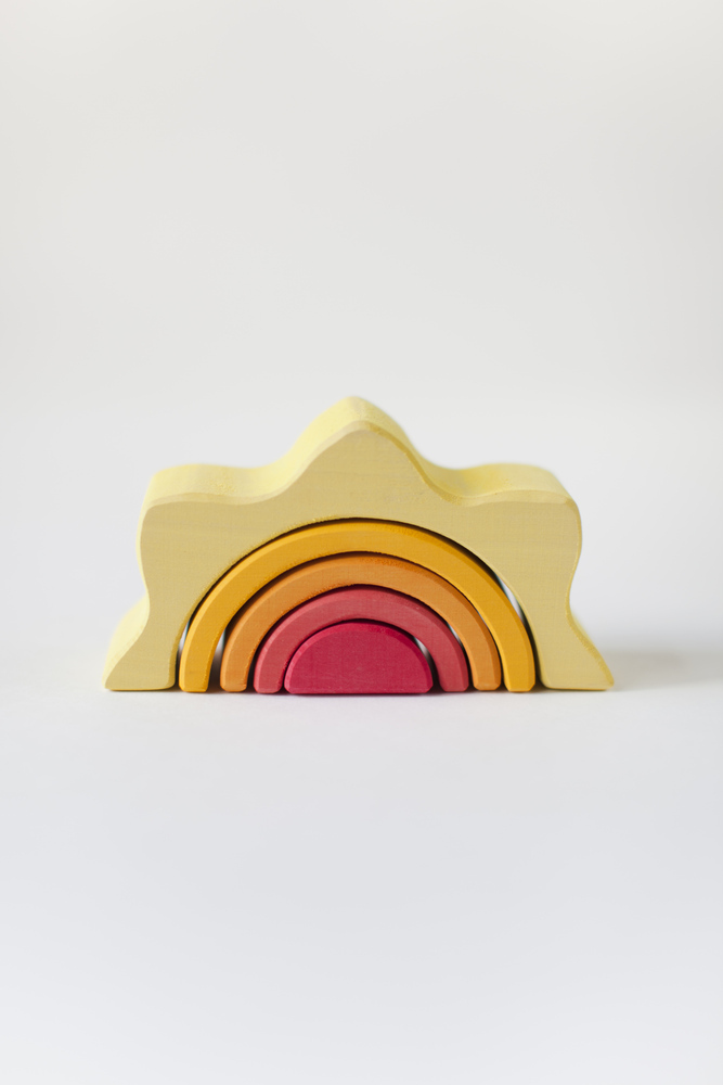 Деревянная Пирамидка Солнце РАДУГА ГРЕЗ