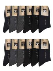 1002 BOYI носки мужские, цветные 42-48 (12шт)
