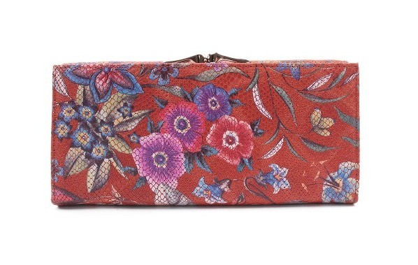 Женский кошелек из кожи с цветочным принтом Nina Farmina 9281М