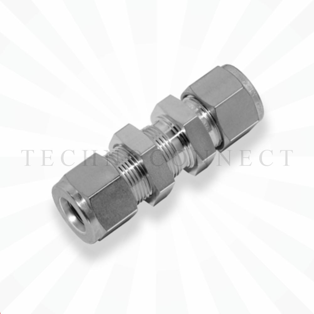 CBUR-6M-10M  Переходник панельного монтажа: метрическая трубка 6 мм - метрическая трубка  10 мм