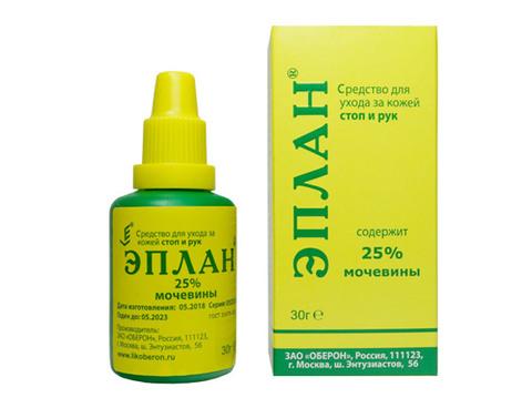 Эплан, жидкое средство для ухода за кожей стоп и рук, 25% мочевины