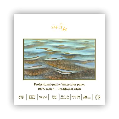 Альбом SM-LT Watercolor 300г/м2 190х380см 10л белый 100% хлопок склейка