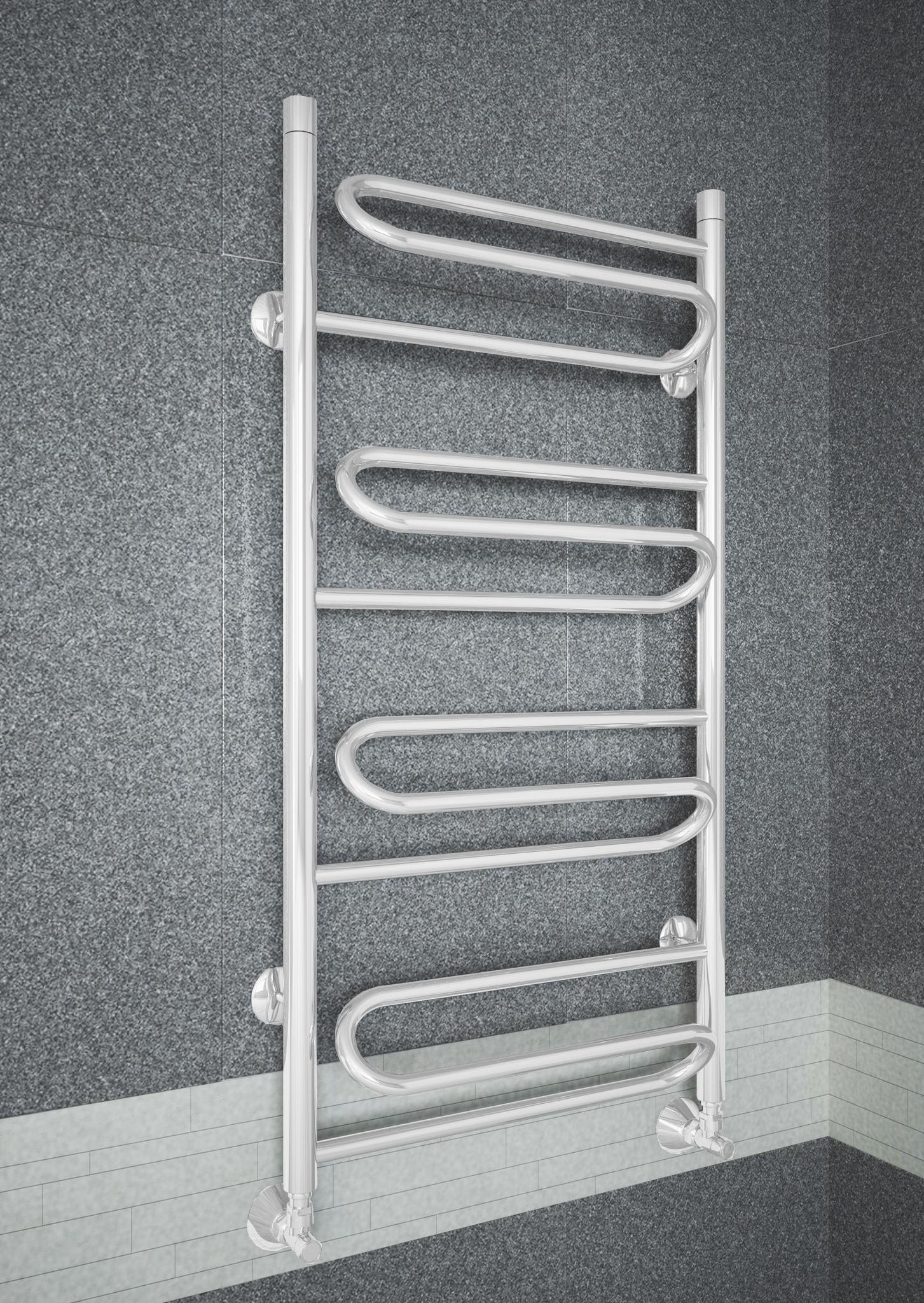 Upiter E - электрический полотенцесушитель с увеличенным пространством для сушки белого цвета.