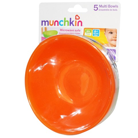 Munchkin, Миски для детей от 6 месяцев, 5 чашек