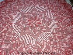 Скатерть круглая 220 см красная