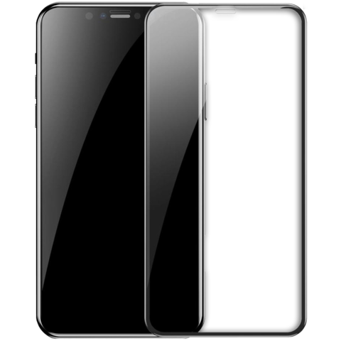 Tempered Glass Full Screen 3D Film HD 9H Hardnes for iPhone Xs Max (С Чёрной Рамкой)