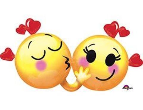 Фольгированный шар улыбки влюбленные