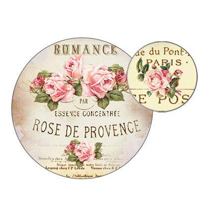 Наклейки круглые Винтажные розы