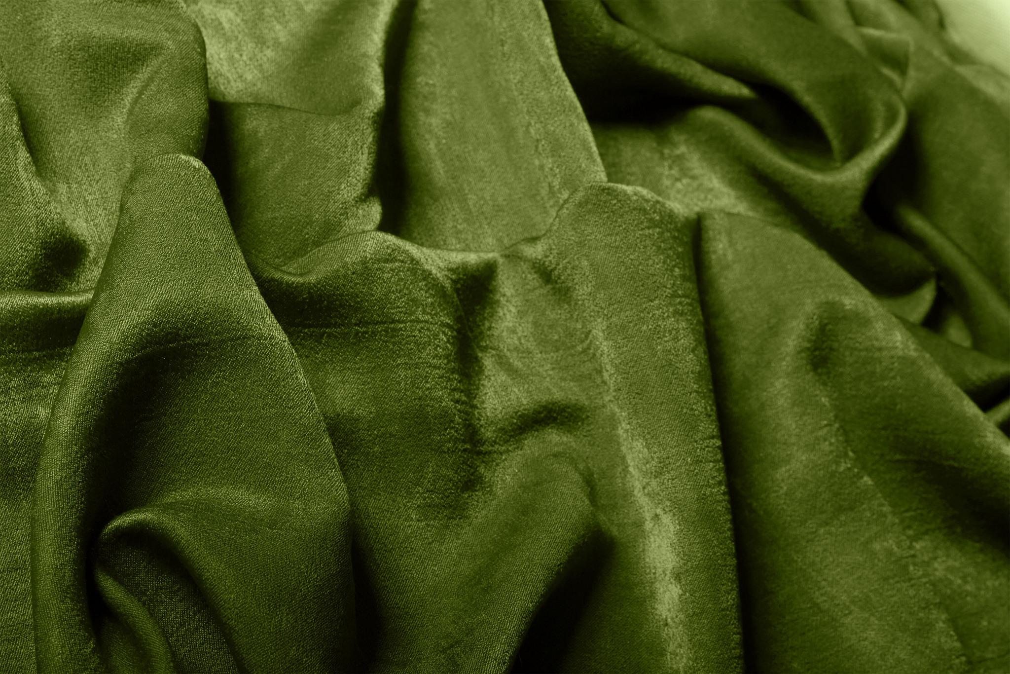 Длинные шторы. Suede (зелень).  Имитация замши