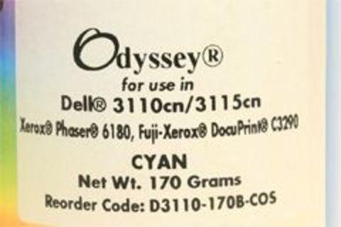 Тонер Xerox Phaser 6180, Phaser 6280, Epson C2800, C3800 голубой 170g (Static Control - Ресурс 6000 страниц)