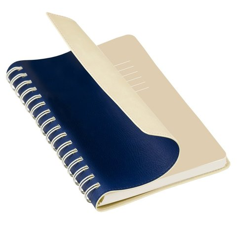 Ежедневник недатированный, Portobello Trend, Vista, 145х210, 256 стр, синий/бежевый