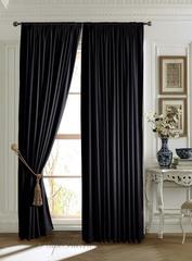 Длинные шторы. Mild (чёрный).