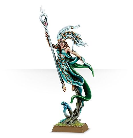 WOOD ELF SPELLWEAVER WITH STAFF