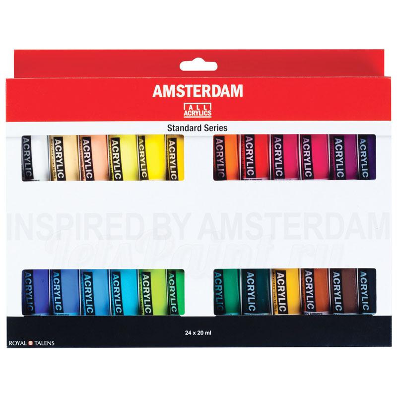 Набор акриловых красок Amsterdam Standard - 24 цвета в тубах по 20мл