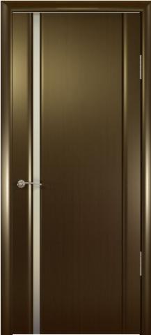 Дверь Океан Шторм-1, стекло белое, цвет венге, остекленная