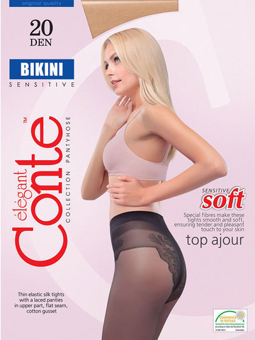 Conte Bikini Колготки женские 20d, p.4 bronz