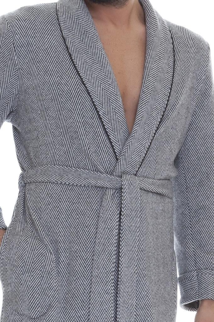 Теплый мужской халат B&B