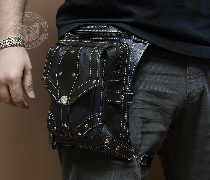 ad9840fb9dbb BAG373-3 Мужская сумка на бедро из натуральной кожи, ручная работа