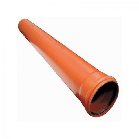 Канализационная труба Ø160х1000 мм рыжая