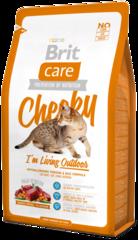 Корм для кошек, Brit Care Cat Cheeky Outdoor, активных и уличного содержания