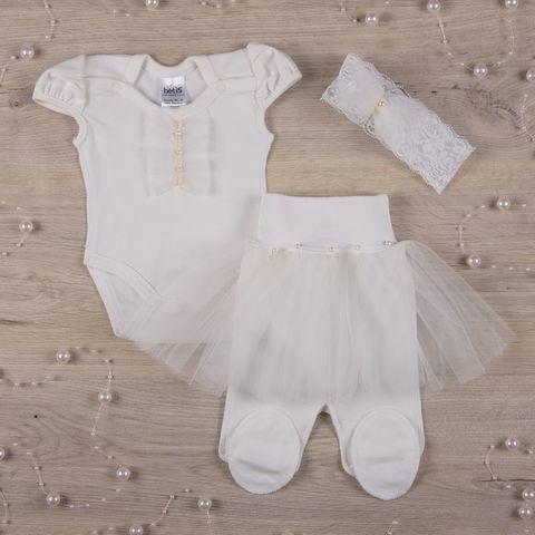 Нарядный костюм для девочки Бусинка короткий рукав