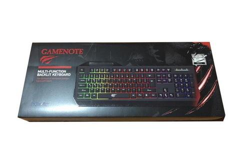 Клавиатура компьютерная Havit HV-KB471L, multimedia USB с подсветкой черная