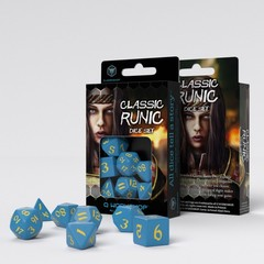 Classic Runic Blue & yellow Dice Set (7)