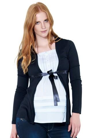 Блузка для беременных 01037 черный