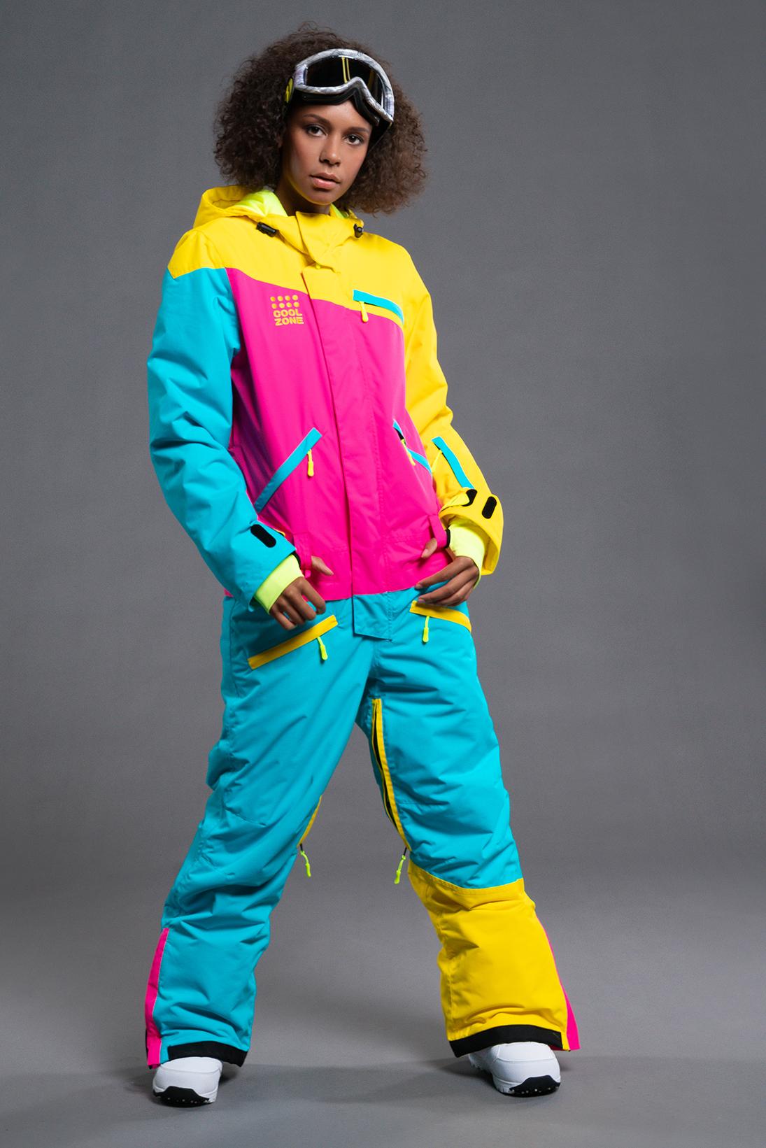 Женский сноубордический комбинезон Cool Zone Mix желтый-цикламен-бирюза 5e02dc46db6