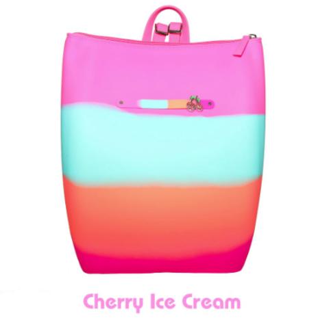 Маленький силиконовый рюкзак на молнии цвет Cherry Ice Cream Gummy Bags