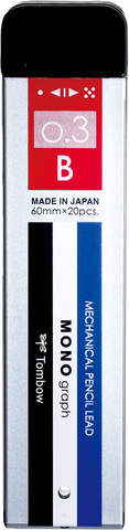 Грифели 0,3 мм Tombow Mono Graph MG B