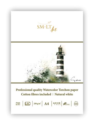 Альбом SM-LT Watercolor 250г/м2 А4 10л белый торшон склейка