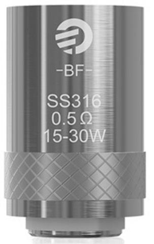 JoyeTech BF SS316 (AIO, Cubis) - сменные испарители 0,5 Ohm