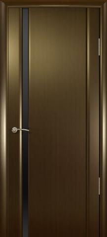 Дверь Океан Шторм-1, стекло тонированное, цвет венге, остекленная