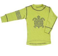 Терморубашка из шерсти мериноса Norveg Soft Lime Print детская