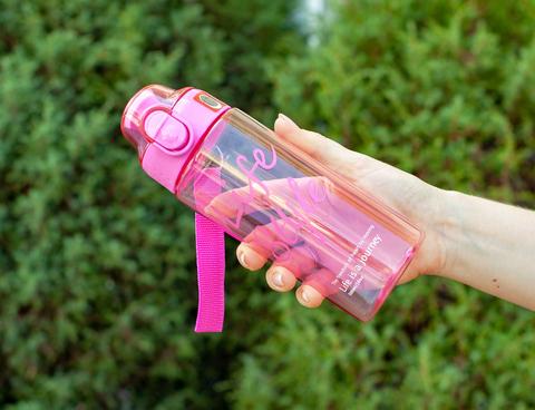 Бутылка POWCAN - 500 мл. Life Style - Розовый