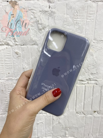 Чехол iPhone 11 Pro Max Silicone Case /lavender grey/ серая лаванда 1:1